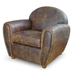 Cigar-style Vintage Leather Club Chair $563.99