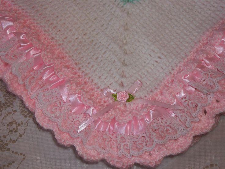 Crochet Baby Girl coperta corredino di di MADEWITHLOVEBYSUZIEQ