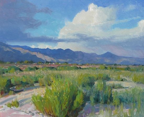 Robert Goldman - August Afternoon, Tucson- Oil - Painting entry - September 2010 | BoldBrush Painting Competition
