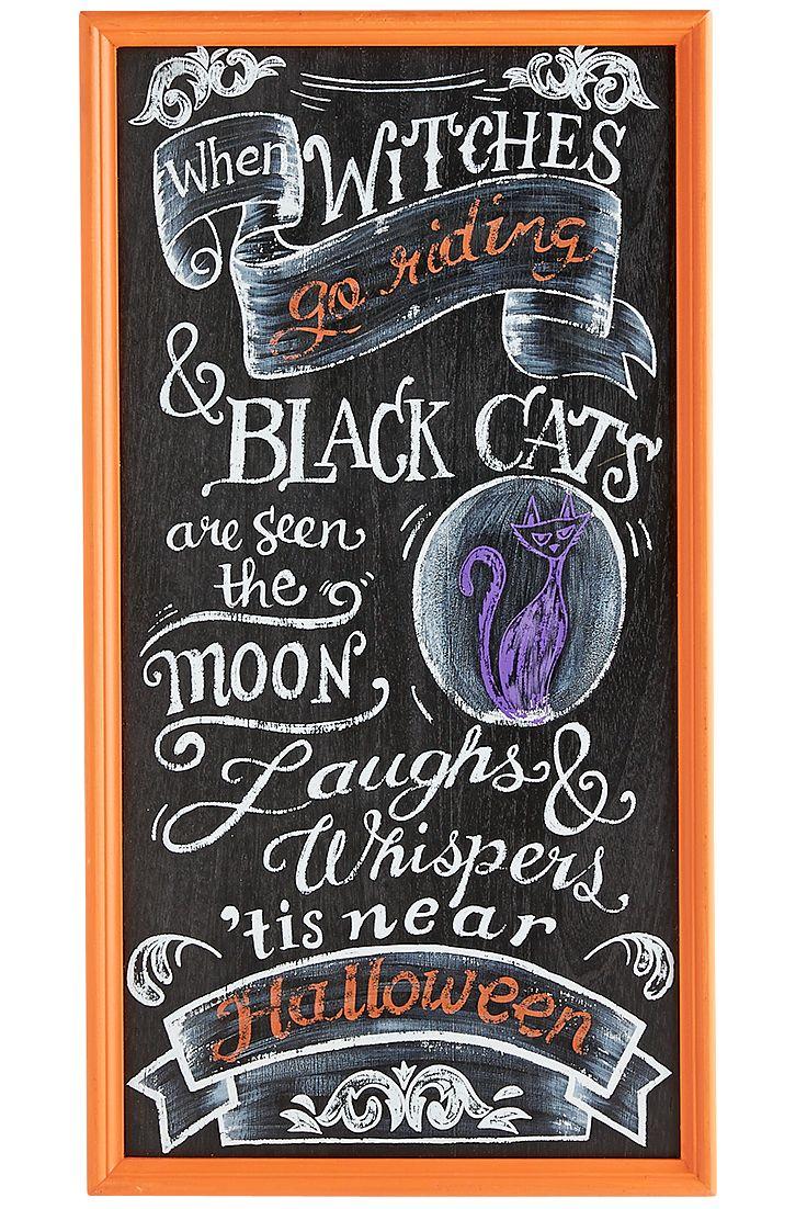 Best Halloween Entertaining Decor Images On Pinterest - Cool chalkboard halloween decor