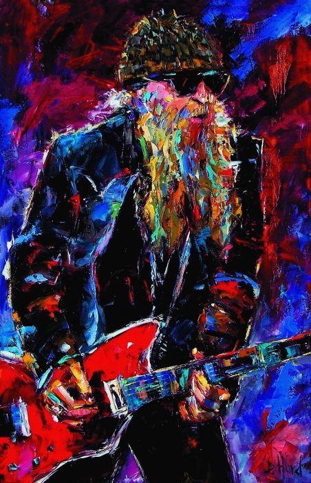 ZZ Top Billie Gibbons Painting  - ZZ Top Billie Gibbons Fine Art Print