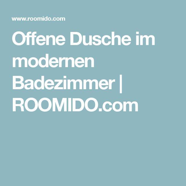 Offene Dusche im modernen Badezimmer   ROOMIDO.com