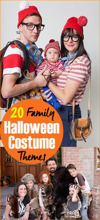 20 Family Halloween Costume Themes. Great costume ideas for groups. Where's Waldo, The Croods and More...