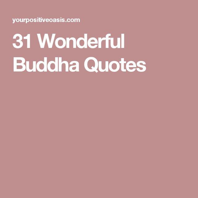 31 Wonderful Buddha Quotes