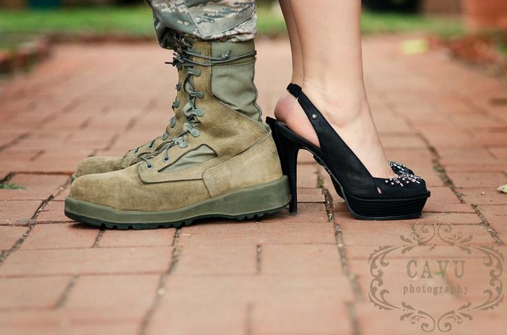 Military engagement photography.  CAVU Photography Abilene, TX.