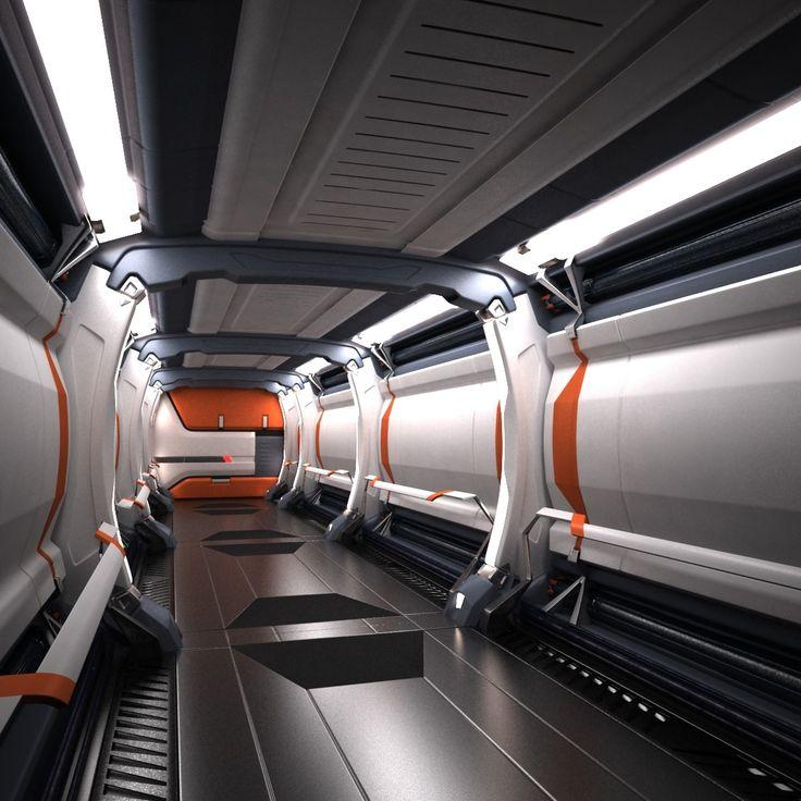 Sci Fi Spaceship Corridor 3d Max Sci Fi Layouts