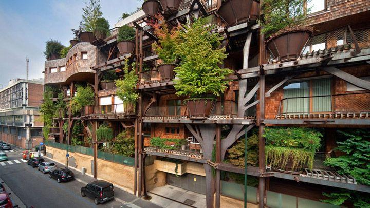 都会にツリーハウス集合住宅が出現 ! ──騒音や大気汚染から住民を守る