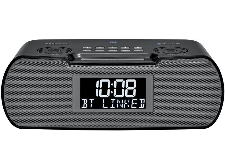 Clock Radio, Bluetooth Radio Alarm Clock,Black (RCR-20)