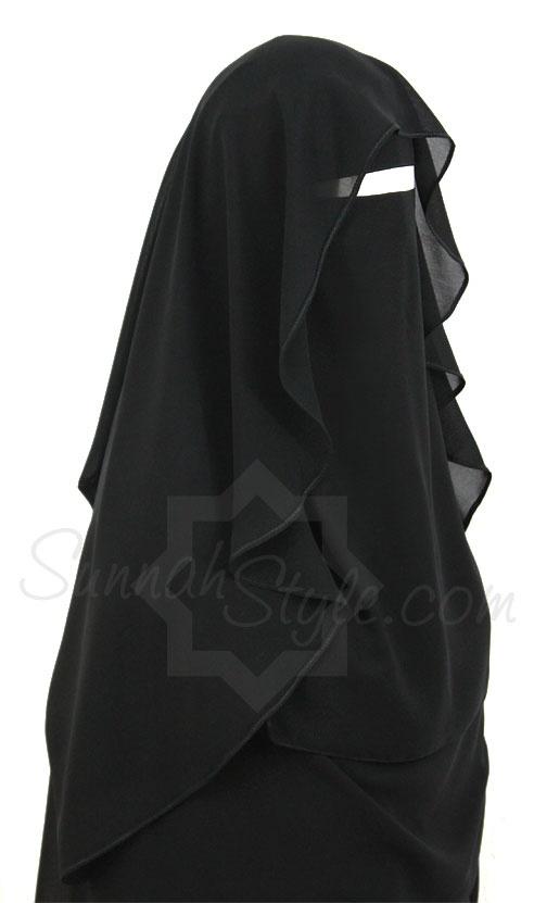 Butterfly Niqab (Black) by Sunnah Style #SunnahStyle #niqabstyle #niqaab