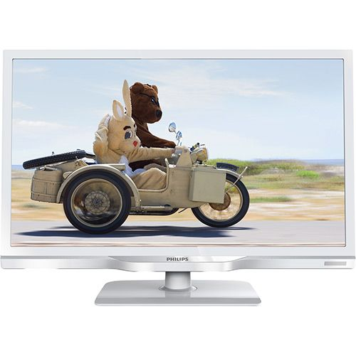 TV LED 23 Philips 23PHG4119 HDTV 2 HDMI 1 USB Função Monitor Branca 120Hz
