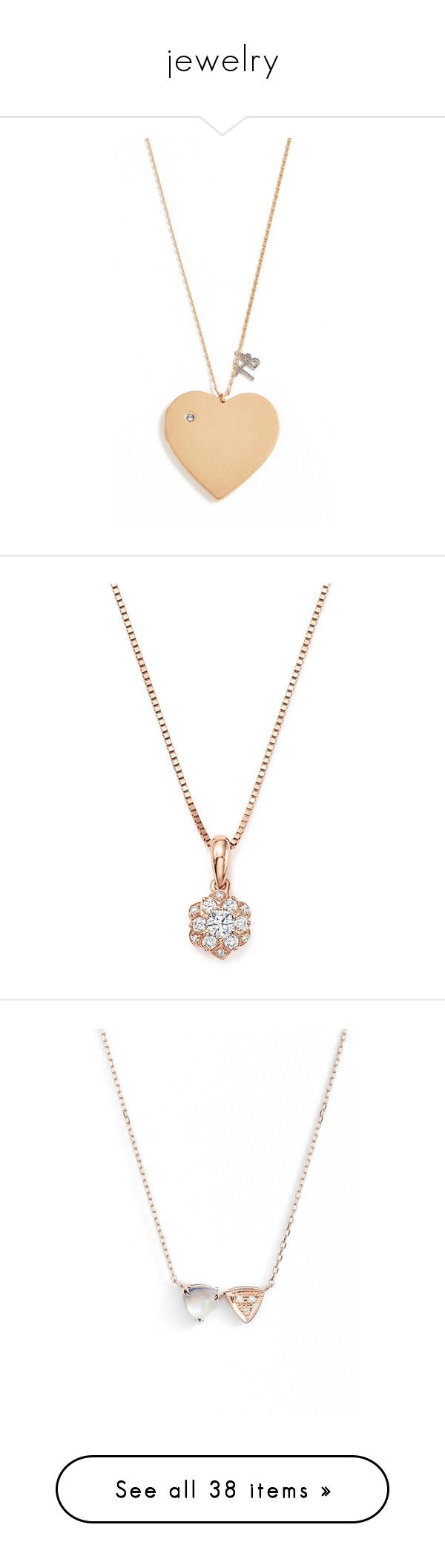 """""""jewelry"""" by blossomfade ❤ liked on Polyvore featuring jewelry, necklaces, vintage gold, heart pendant necklace, vintage heart locket, heart necklaces, gold heart necklace, yellow gold heart necklace, diamond chain necklaces and 14k rose gold pendant"""