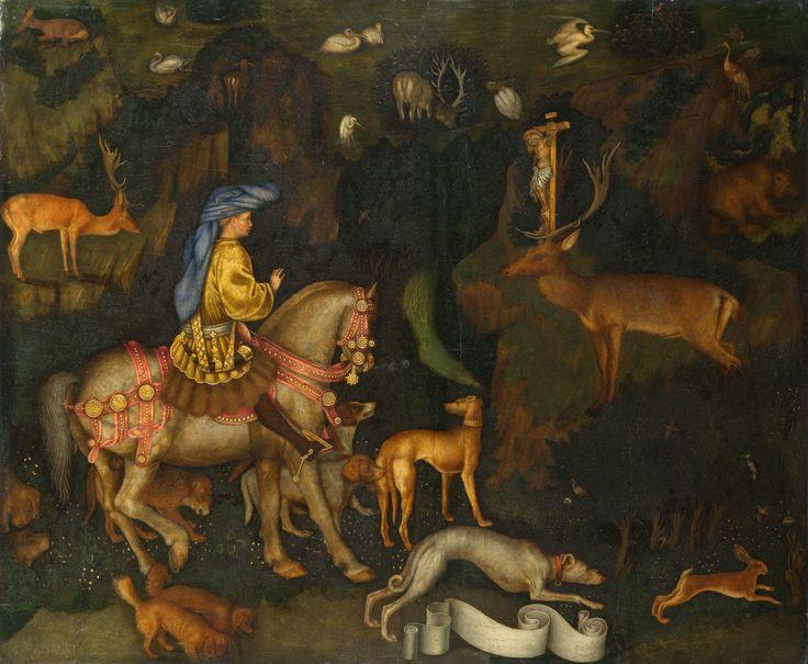 Pisanello, La Visione di Sant'Eustachio (1436-1438), National Gallery, Londra