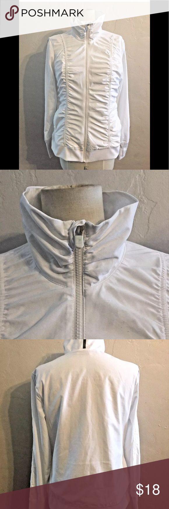 Fila Sport Womens white jacket Large Lightweight sports, athletic jacket. Zip up, roushing, lined with soft mesh. fila sport Jackets & Coats