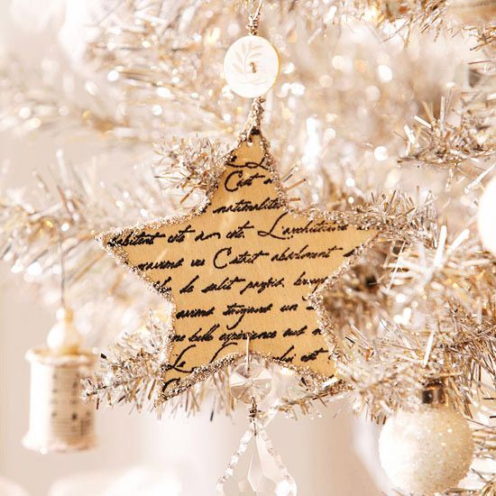 star ornament...with lyrics to christmas songs