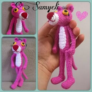 Samyelinin Örgüleri: Pink Panter Keychain / Pembe Panter Anahtarlık