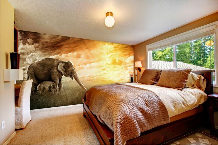 Sypialnia otwarta na świat :) #sypialnia #aranżacja #fototapeta #mural24pl #mural #design http://mural24.pl/