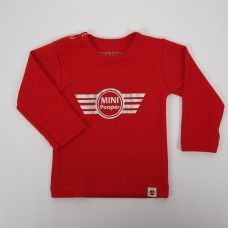 Wooden Buttons longsleeve Mini Pooper Red