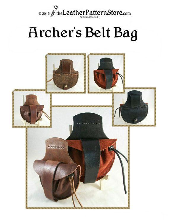 Archer's Belt Bag pattern PDF leather by leatherpatternstore