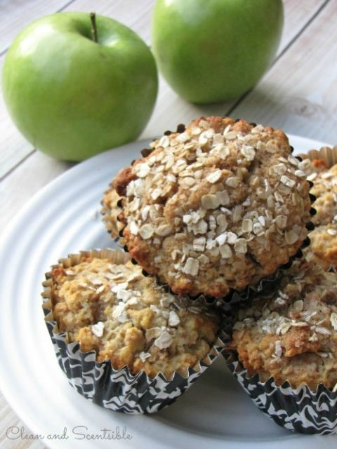 Healthy Apple Muffins.  These would make an awesome breakfast on the go or…