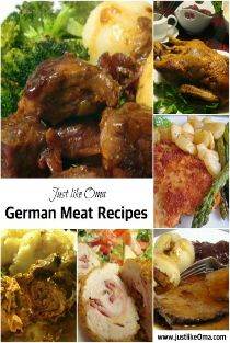 Traditional German meat recipes such as Schnitzel, Rouladen, and Sauerbraten that taste like Mutti's, only easier, quicker, and cheaper