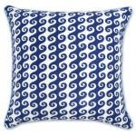 Jonathan Adler's Blue Bobo Waves Pillow would make a nice masculine accent