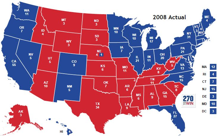 2008 Presidential Election Results