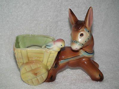Australian Pottery KALMAR Donkey & Cart