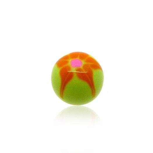 Boule en plastique de couleur peinte à la main, 4 coloris disponibles. Notre site CBO vous propose tout un éventail de bijoux piercing de qualité.