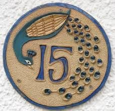 ceramic house numbers - Google Search