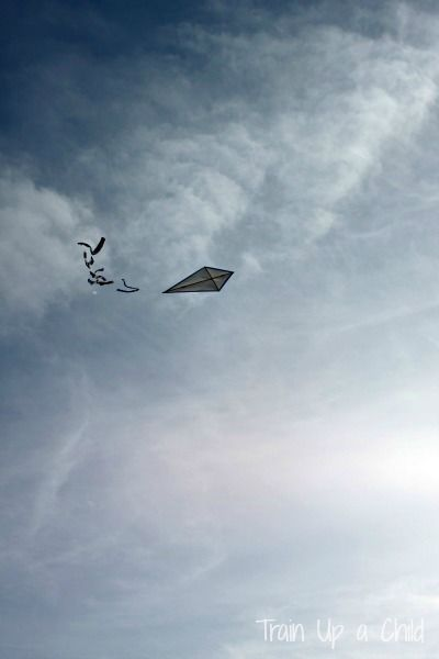 How to Make a Kite from simple and inexpensive household items.  This type of kite requires very little wind to get in the air and soar!