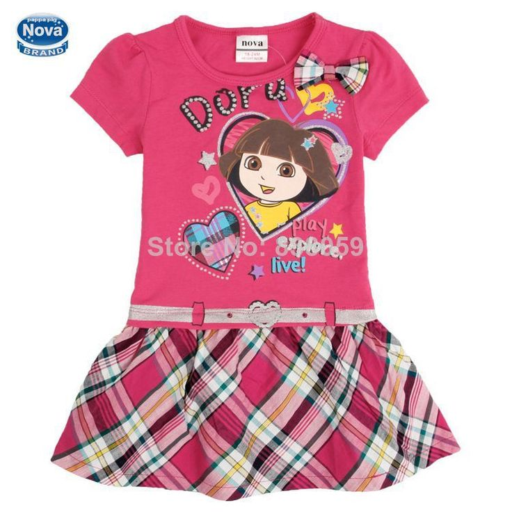 Dora girl Dress Kid Clothing Children's Wear NOVA Fashion New 2014 Summer dress for Girls Toddler Princess Dress baby girl H4709 $15.49