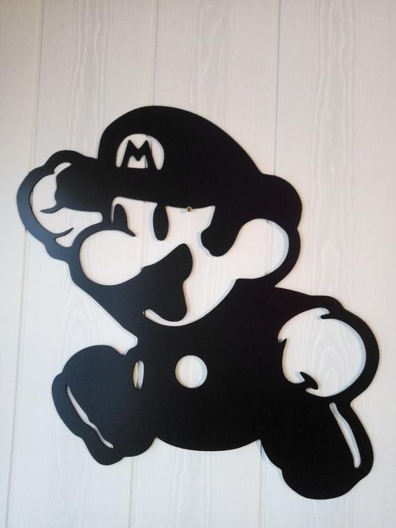Super Mario Metal Wall Decor Steel Wall Hanging Art Metal Wall Decor Gaming Wall Art