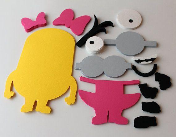 DIY girl minion birthday party game Girl por RaisinsPartySupplies