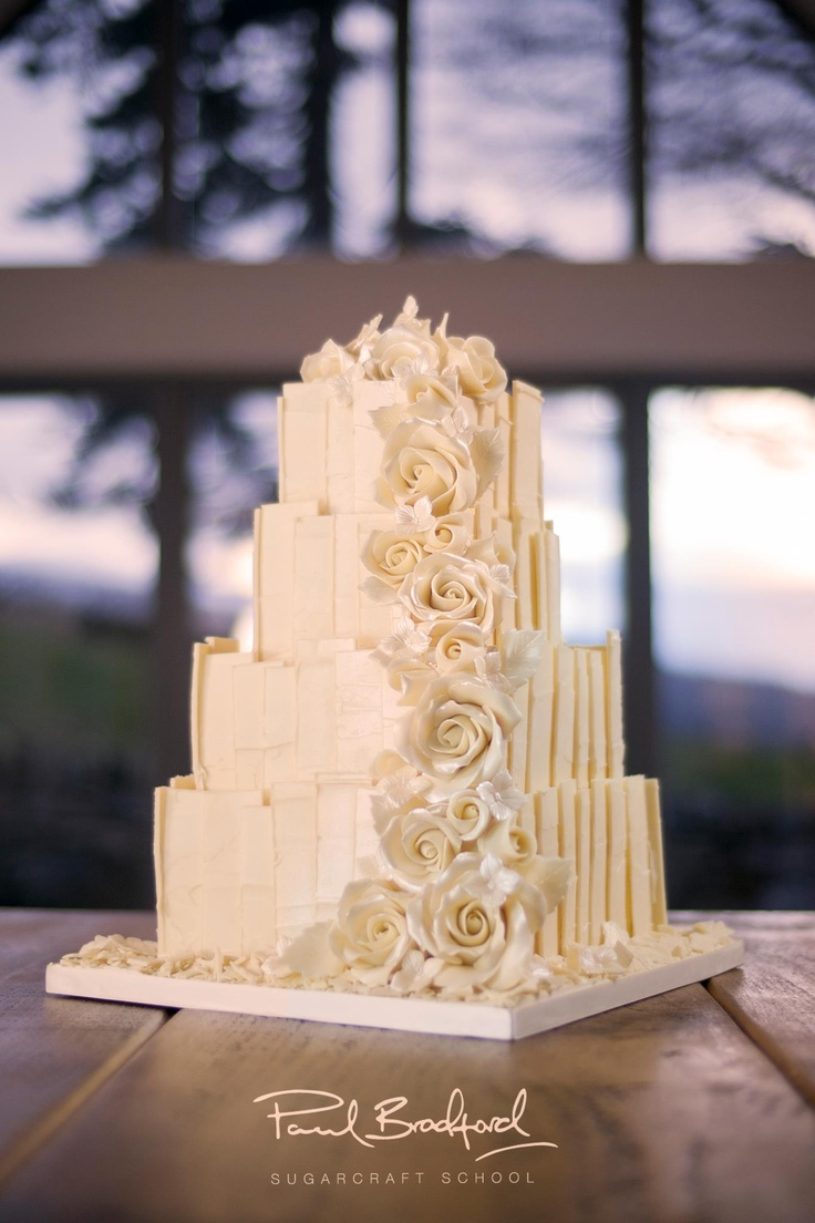 White Chocolate Shard Cake - Wedding Cake