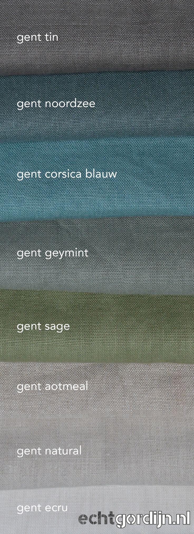 Nieuw | Gent 100% belgisch linnen. 8 kleuren | 400 gr/m2 | zwaar statig industrieel stoer klassiek! Vraag gratis stalen aan. Wij maken je gordijn helemaal op maat. https://www.echtgordijn.nl/home/