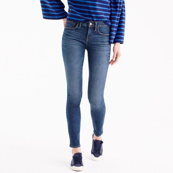 "J.Crew Womens Petite 8"" Toothpick Jean In Lyric Wash blue"