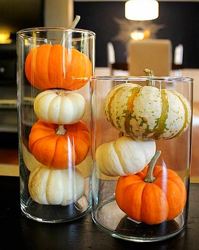easy last minute ways to decorate for halloween pumpkin arrangementspumpkin centerpiecesfall table decorationscraft
