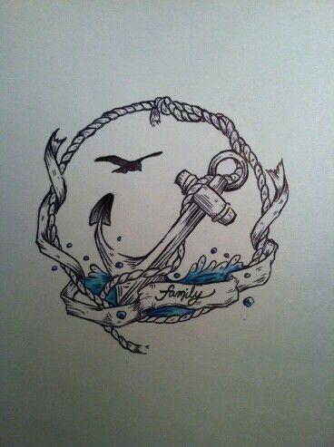 Family anchor tattoo