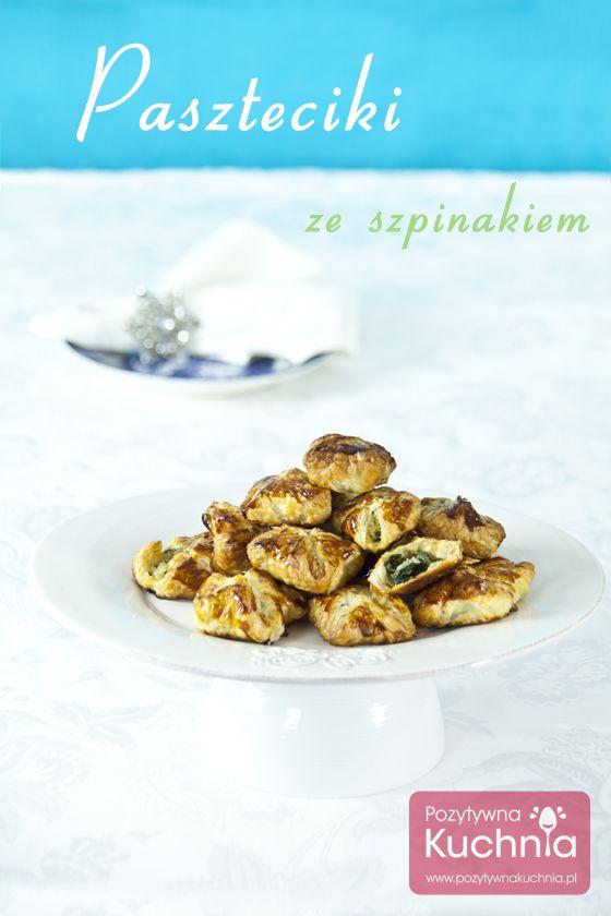 #paszteciki ze #szpinak.iem na cieście francuskim  http://pozytywnakuchnia.pl/paszteciki-ze-szpinakiem/  #przepis #kuchnia