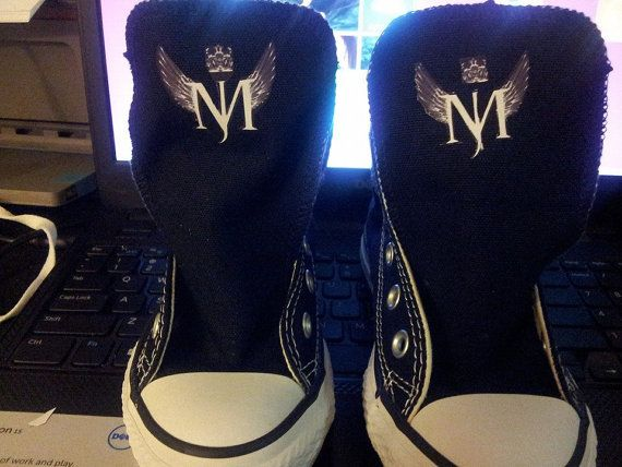 Michael Jackson Inspired Converse Shoes by MariahsCloset on Etsy, $80.00