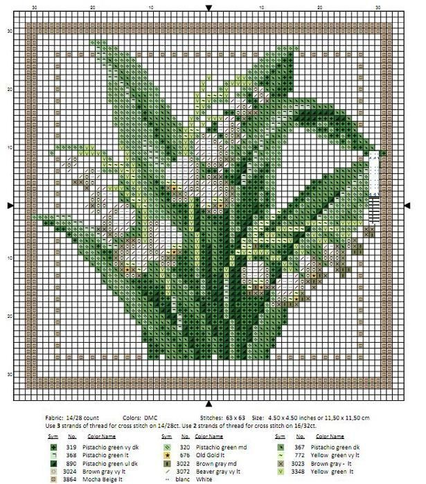 cross stitch lily of the valley - Google Search