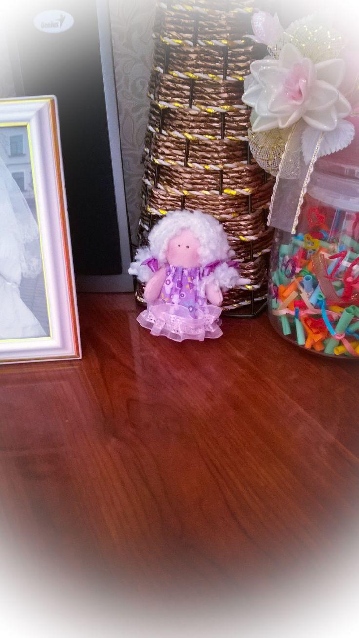 Маленький ангелочек поселился у нас на столе) angel tilda #куклы Тильды ручной работы