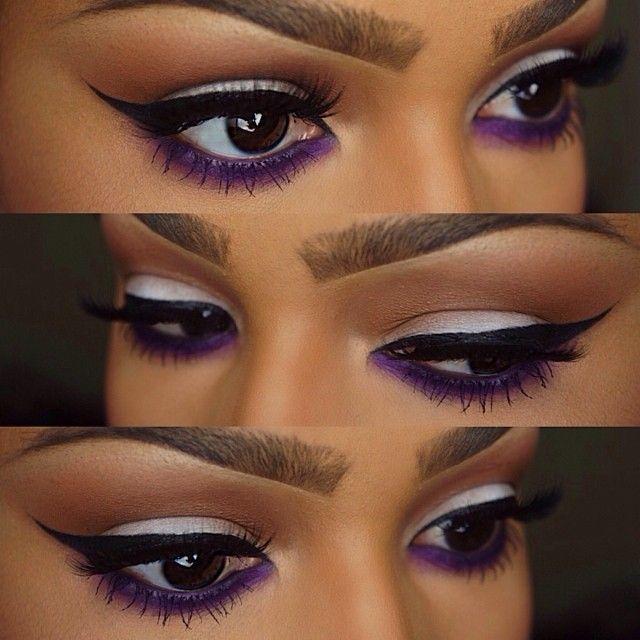.@makeupshayla | @Sugarpill Cosmetics poison plum (sugarpill pro palette) smudged under lash line. @Jill Setzer Walton... | Webstagram