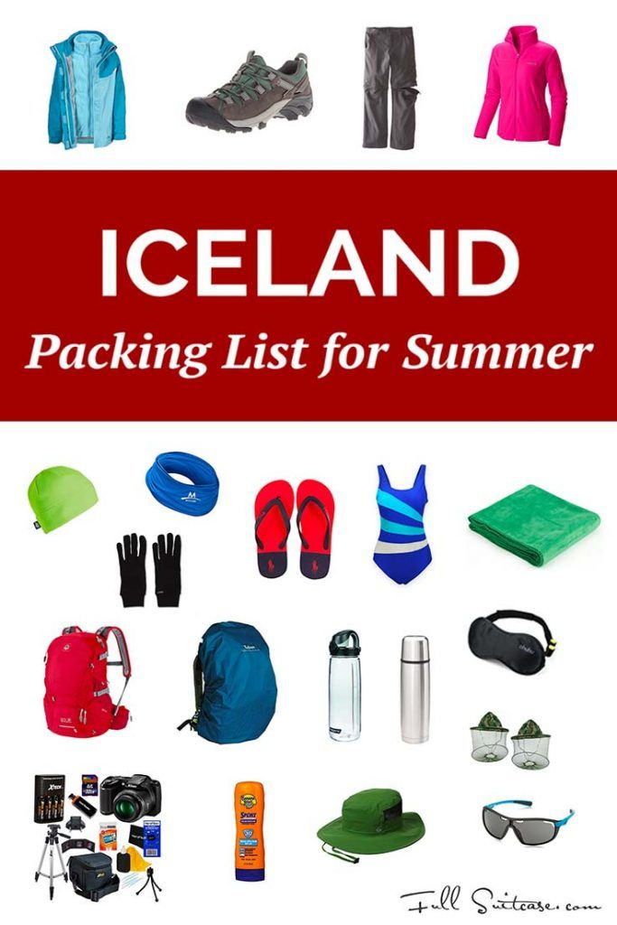 Complete Iceland packing list for summer months - June, July, August