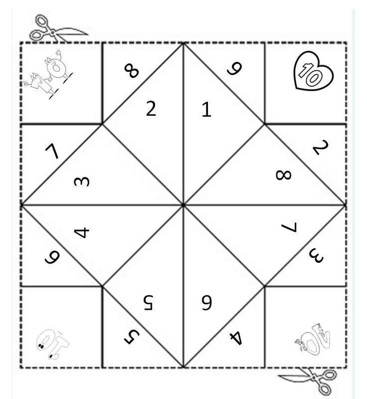 Vouwdobbelsteen samen 10 - Digibord Onderbouw