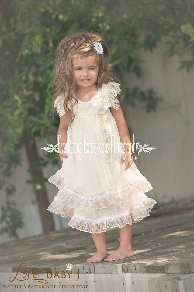 Cherub Bliss An Elegant Vintage Day Gown - $158.00 :: Love Baby J Boutique - Welcome to Love Baby J Couture - Boutique Clothing For Girls