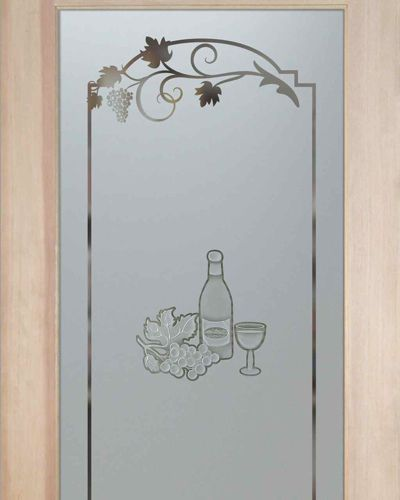 Glass Etching Designs | Pantry Doors Glass Etched, Frosted   3D Carved Wine  Tasting   Part 54
