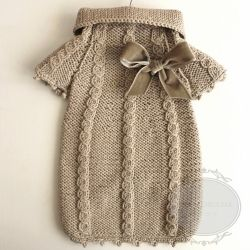 Babette Knit Sweater Dress (Beige)