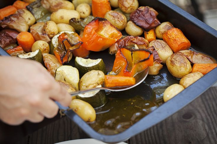 The vegatbles at this point, having cooked over indirect heat under the rabbit yet near to the rotisserie burner will have created a good amount of juice in the bottom of the pan. Do not discard it. We'll use that in a bit! BBQXL https://www.bbqxl.com.au/2014/10/04/rabbit-from-a-nuisance-to-a-delight-on-ozs-dinner-tables/