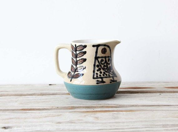 Mid Century Scandinavian Pitcher by GallivantingGirls on Etsy